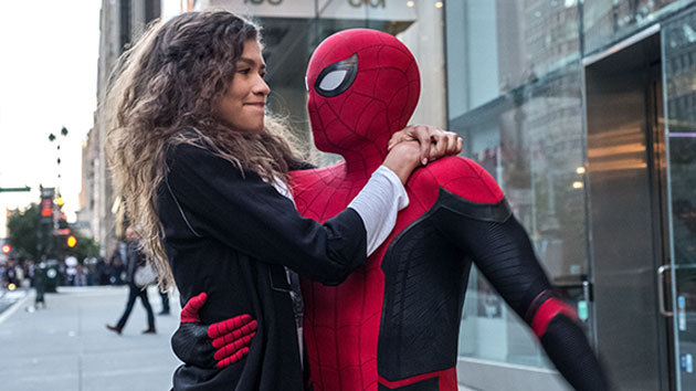 Zendaya and Tom Holland; JoJo Whilden/Sony Pictures Entertainment