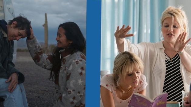 L-R: Frances McDormand, Chloe Zhao, Carey Mulligan, Emerald Fennell -- 20th Century Studios/Focus Features