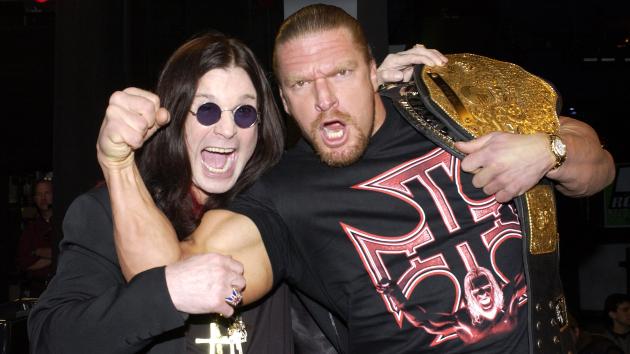 Ozzy Osbourne & WWE's Triple H in 2002; KMazur/WireImage