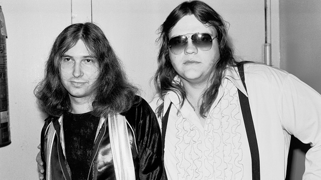 Jim Steinman and Meat Loaf in 1977;  Gary Gershoff/Getty Images