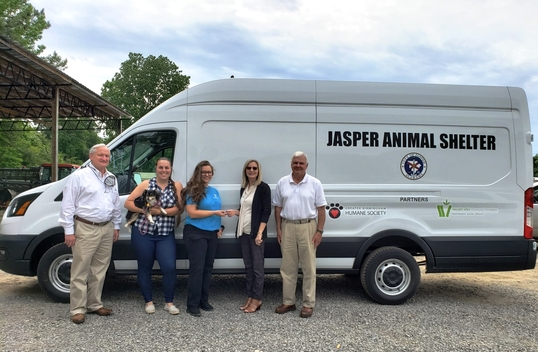City and Partners Purchase Animal Transport Van for use at City of Jasper Animal Care and Control Center